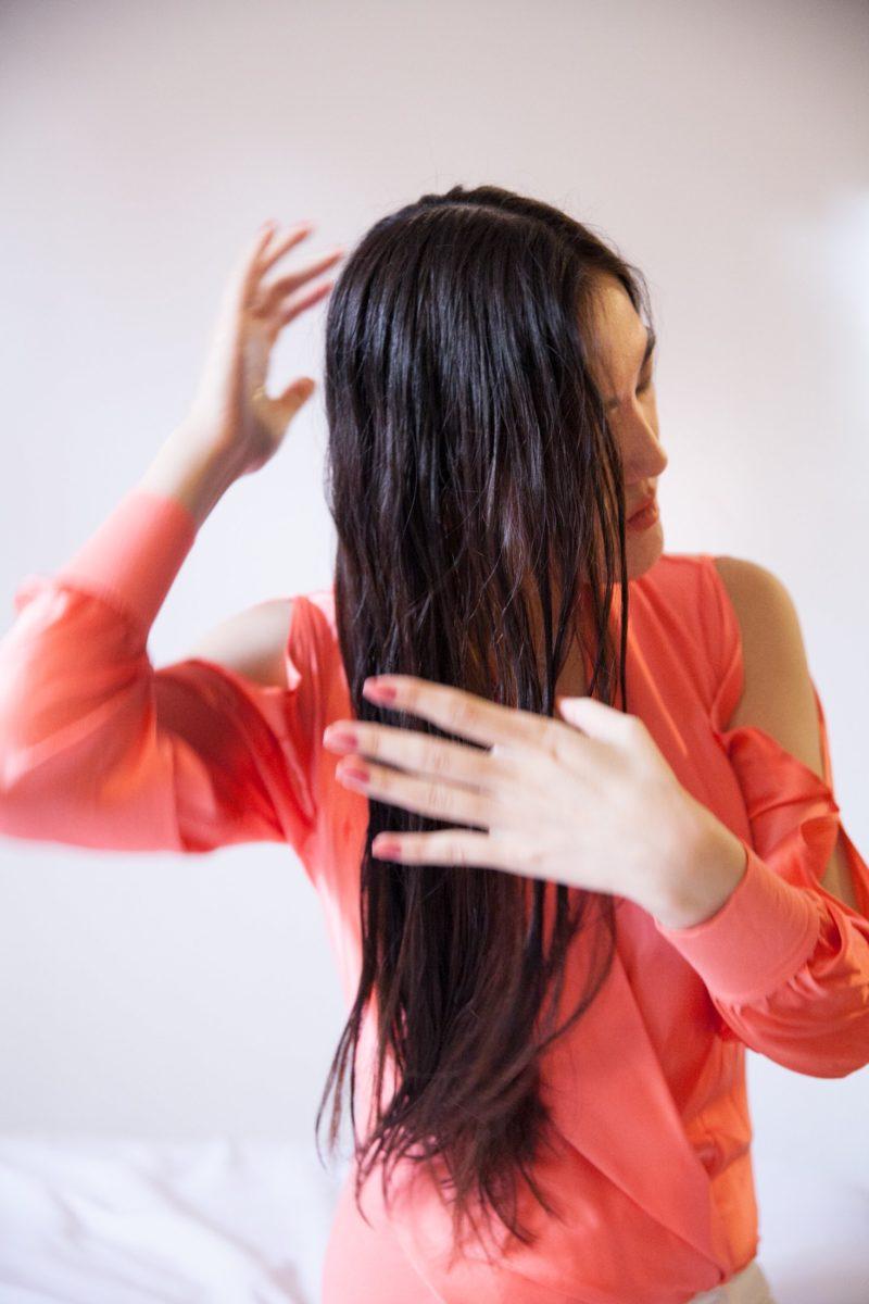 Summer Y.L. using Arrojo hair care.