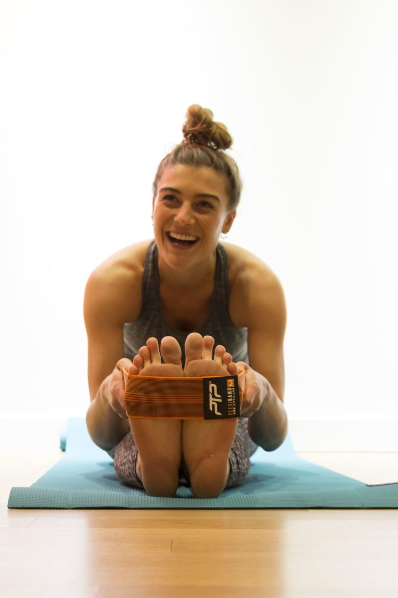 Alex Kate Knight (Alexandra Stone) at her pilates studio in West Village