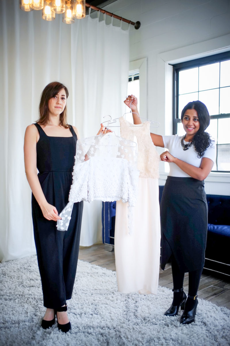 Sathya Balakumar and Heather Green at Lakum Boutique