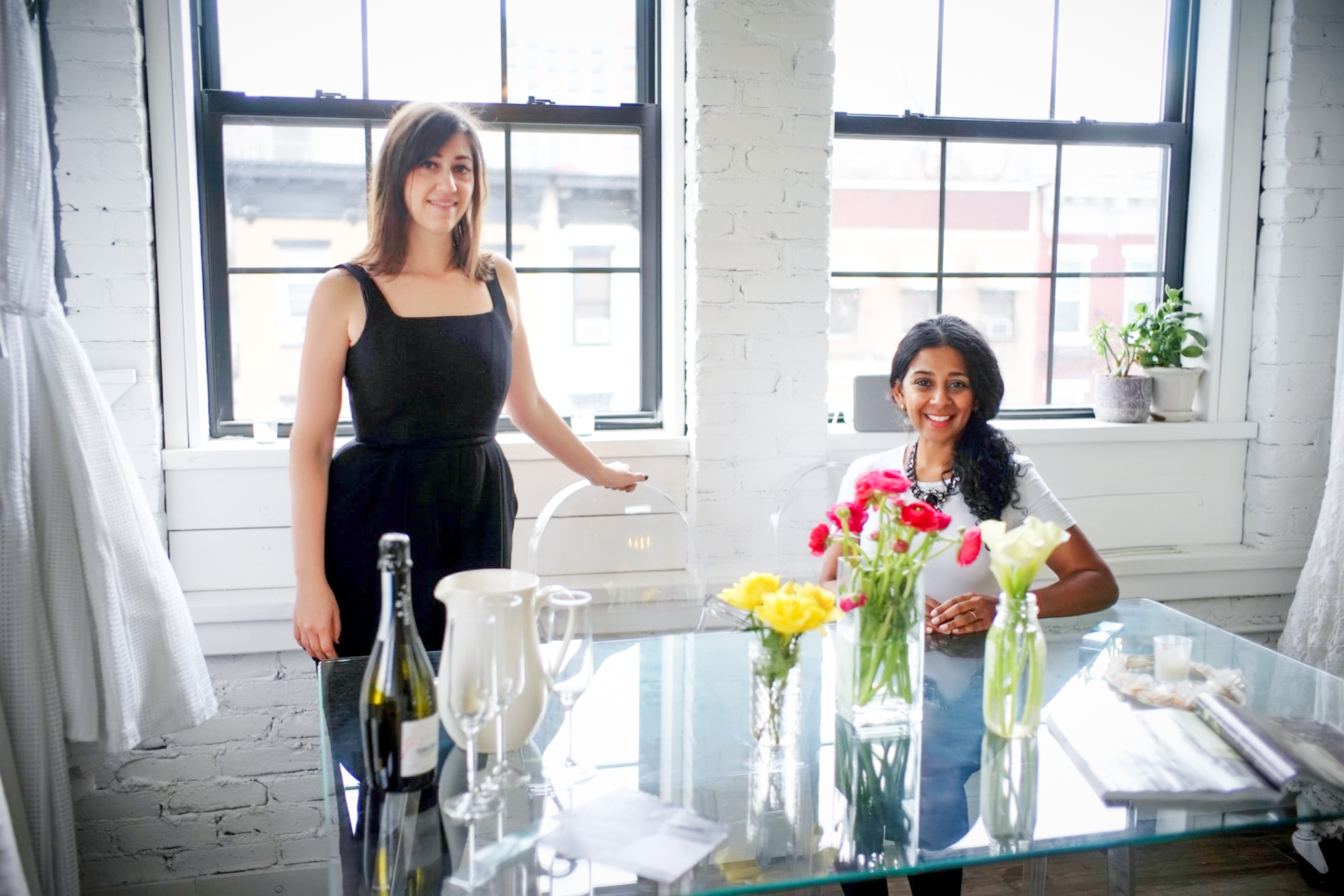 Sathya Balakumar and Heather Green at Lakum Boutique