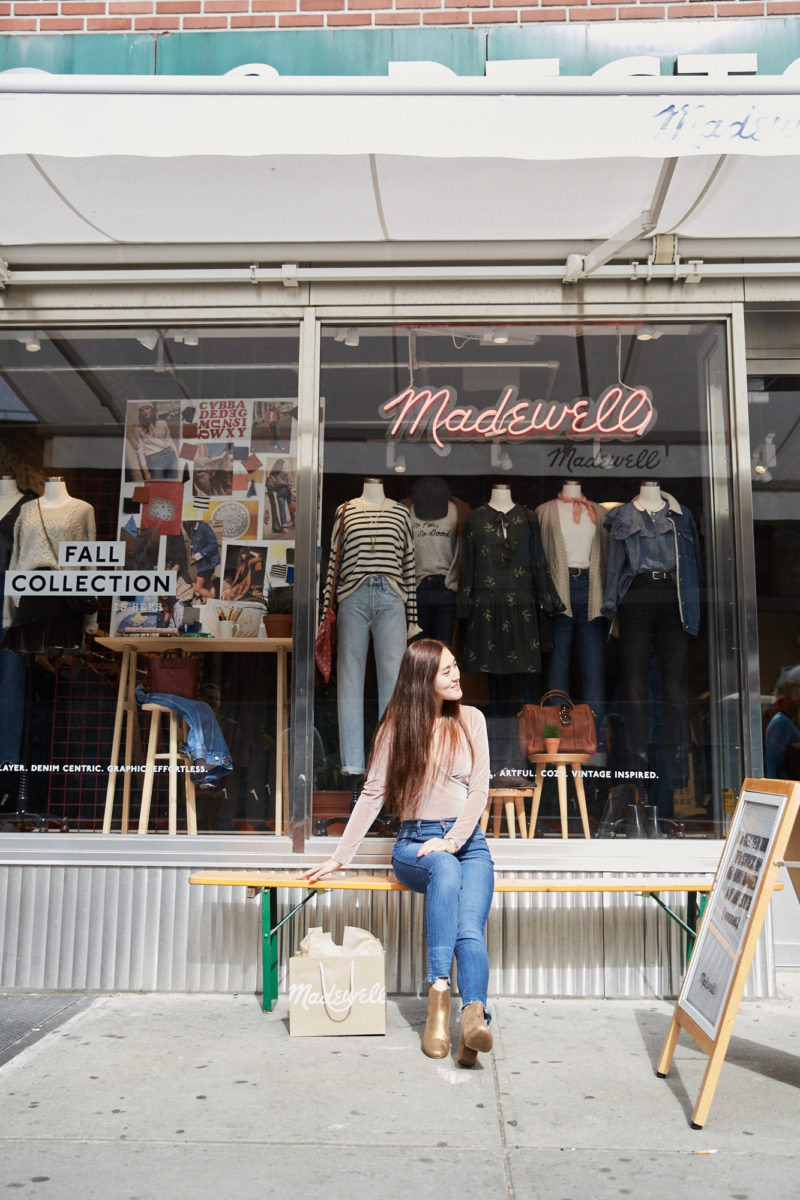 Summer Y.L. wearing MadeWell in Meatpacking NY