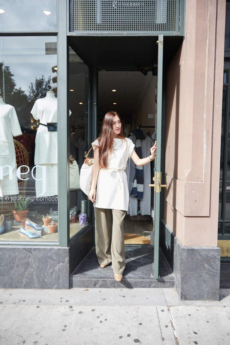 Summer wearing Meg Shop in Meatpacking NY