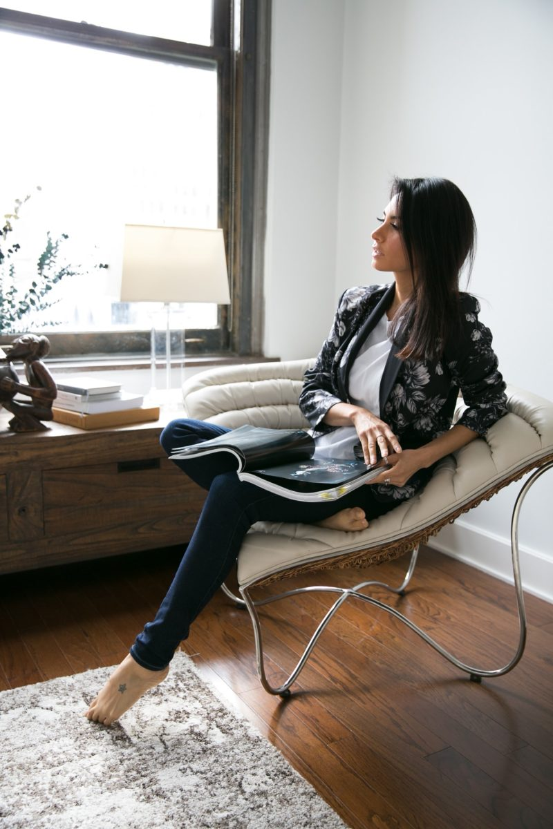 Diana Reyes at home in flatiron