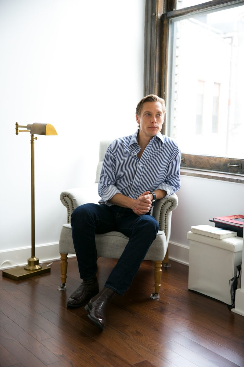 Matthew Bills at home in flatiron