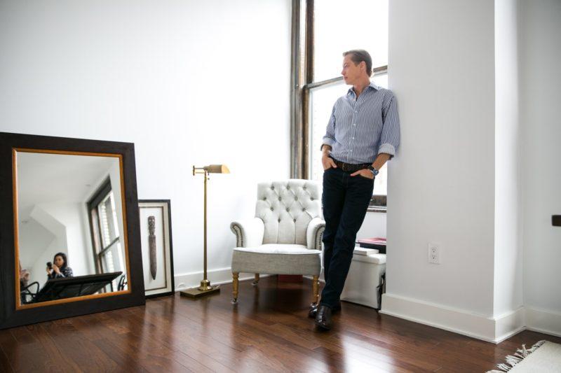 Matthew Bills at home in flatiron